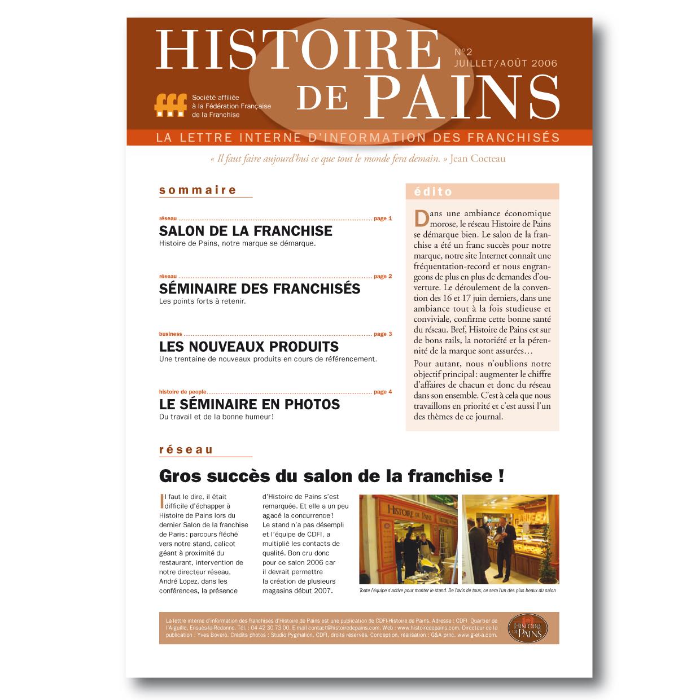 Magazine interne franchises Histoire de Pains