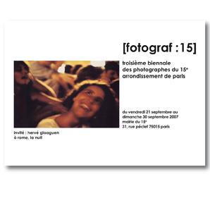 Biennale des Photographes Paris 15